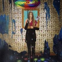 "Juliet's Umbrella — Oil on linen — 60"" x 40"" — 2014 — $15.000"
