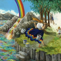 "Coloring Your World — 18x24"" — Giclée Print — $150"